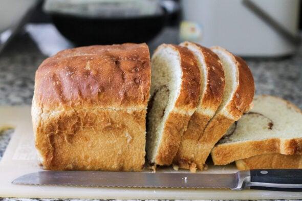 homemade sliced cinnamon bread