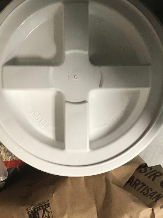 white food storage buckets