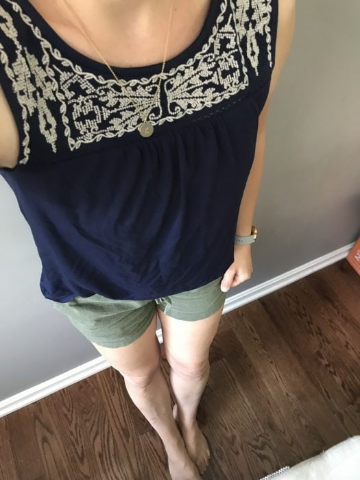 Stitch Fix blue yoke top
