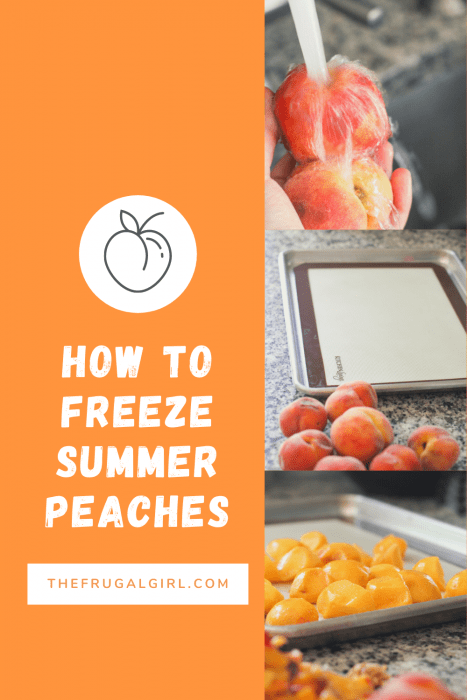 How to freeze summer peaches