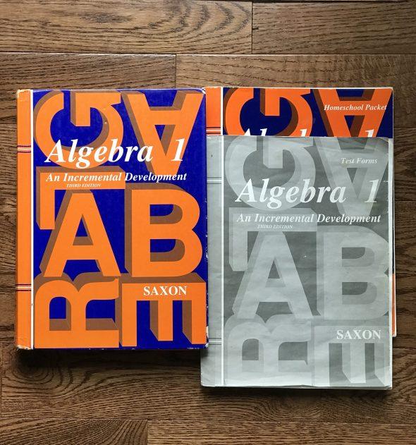 Saxon Algebra 1 homeschool set for eBay