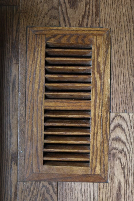 wooden air conditioning vent