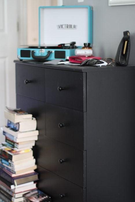 Black Ikea dresser