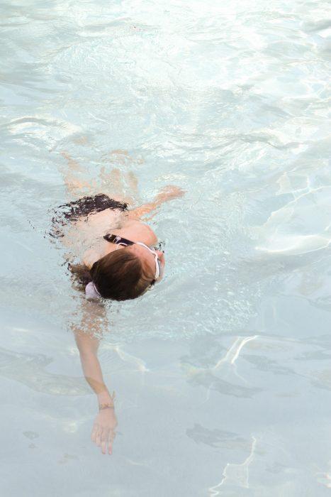 Sonia swimming laps