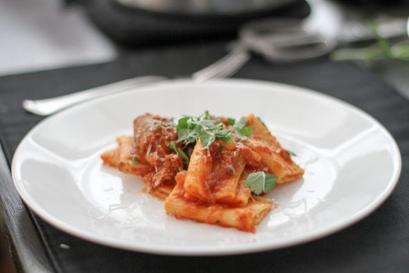 slow cooker sausage ragu from Cook's Country