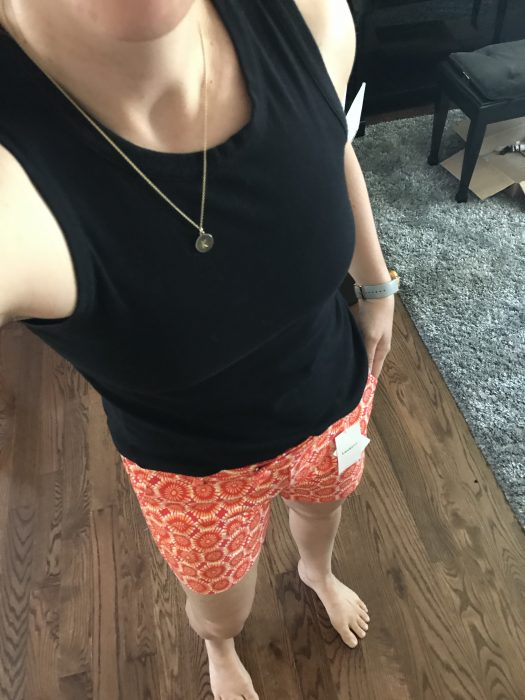 orange floral stitch fix shorts