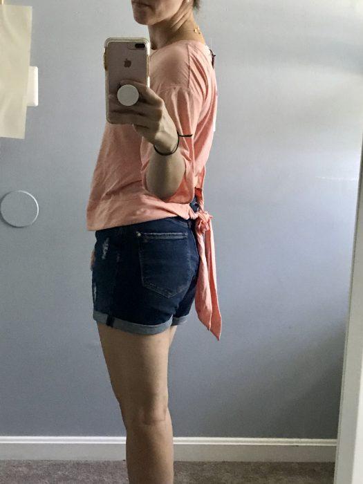 Stitch Fix Z Supply peach tshirt