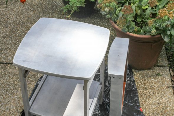 primed side table