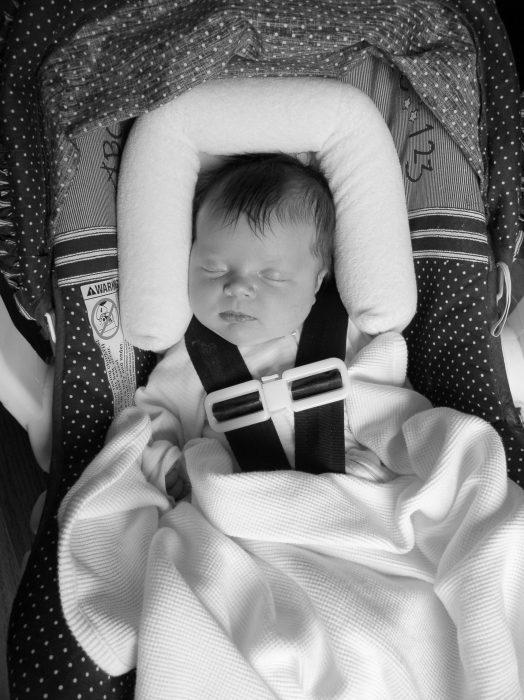 Zoe as a newborn