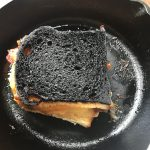 burnt sandwich
