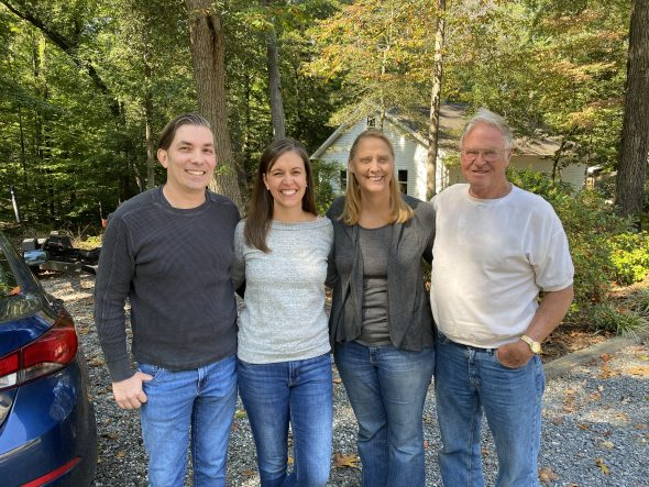Kristen with her aunt and uncle