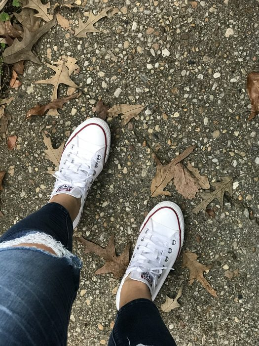White Converse Low-Tops from eBay