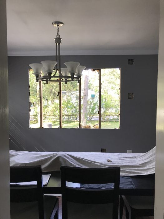 hole in wall for new window