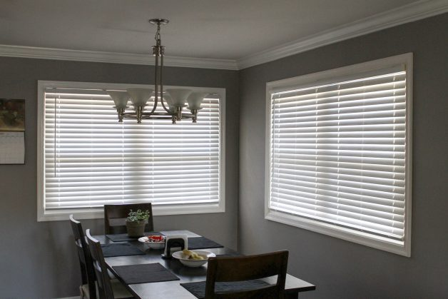 faux wood white blinds