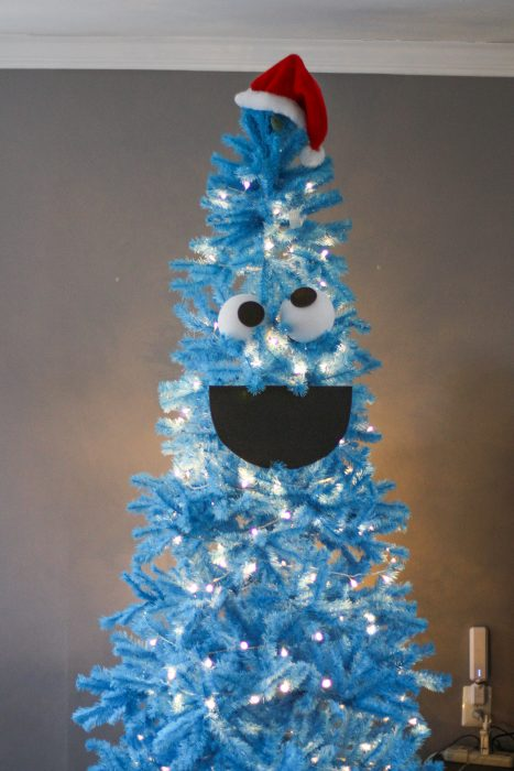 How to make a Cookie Monster Christmas tree