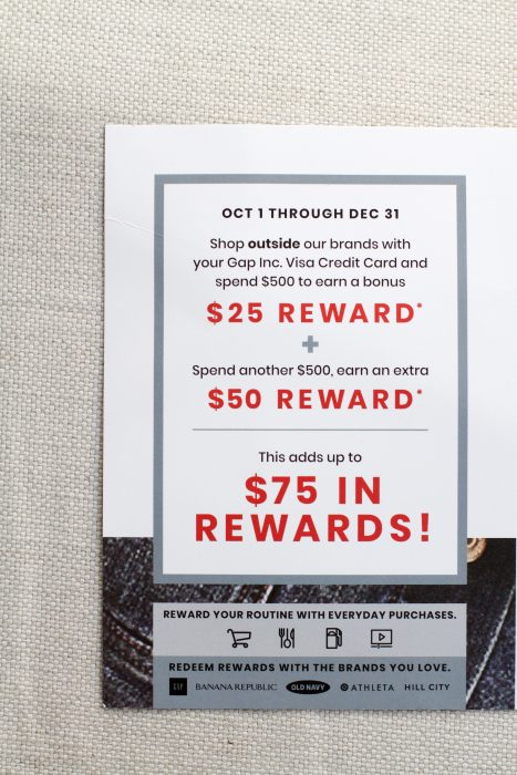 Gap Visa reward offer