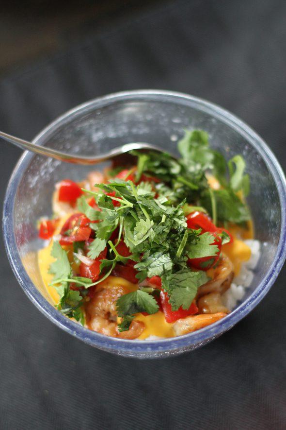 leftover shrimp burrito bowl
