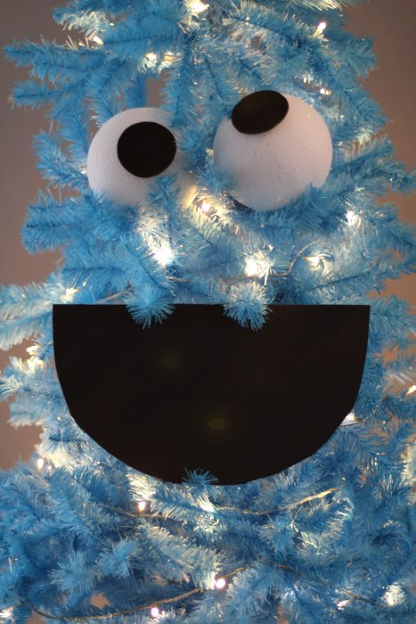 How to make a Cookie Monster Christmas tree mouth