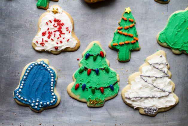 normal Christmas cookies
