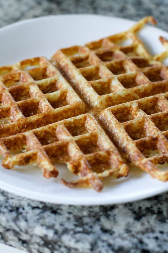 rice waffle made with leftover rice