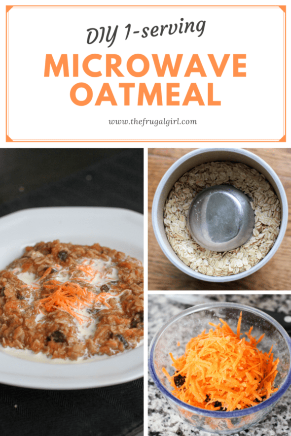 Collage of DIY microwave oatmeal photos.