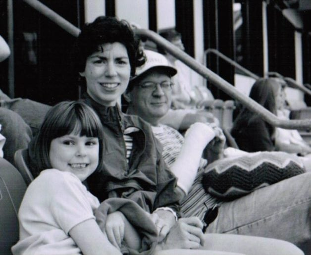 Kate with her husband and daughter
