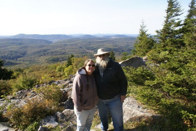 Jody and her husband in West Virginia