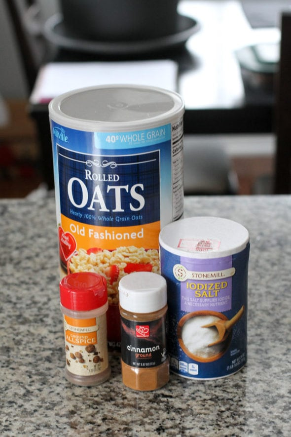 DIY oatmeal ingredients.