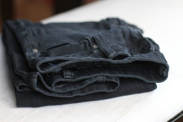 Just Black jeans repaired.