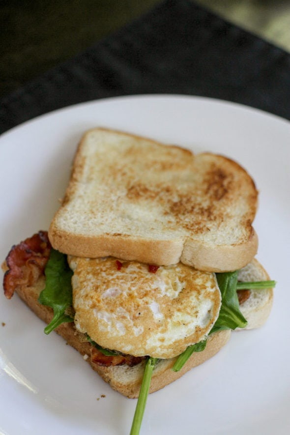 Egg sandwich on toast.