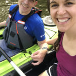 Kristen and Mr. FG in kayaks.
