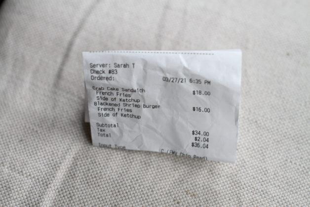 date night receipt