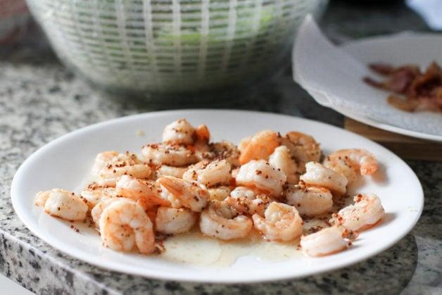 Shrimp on a plate.