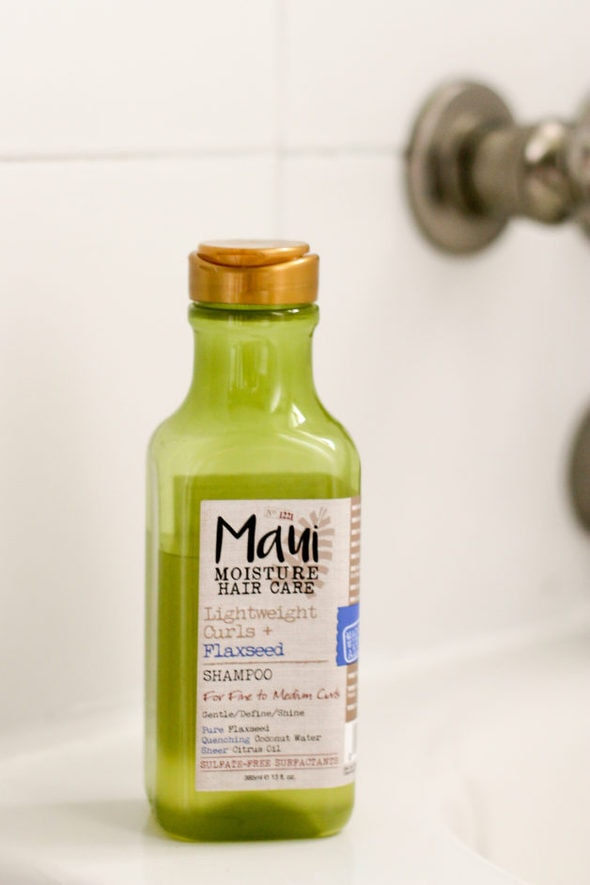 Green Maui Moisture shampoo.