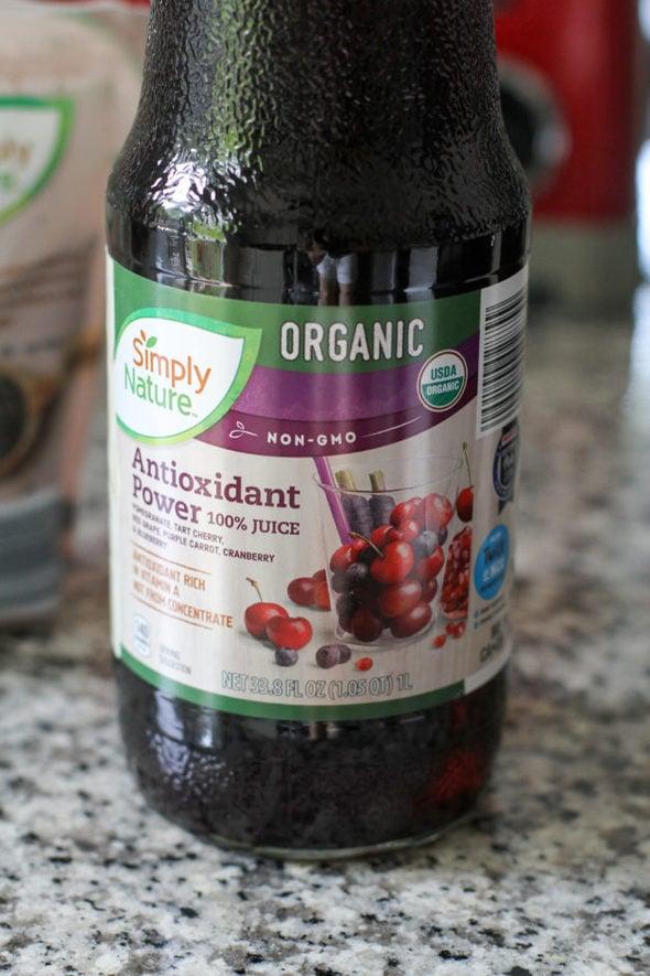 Antioxidant drink from Aldi.