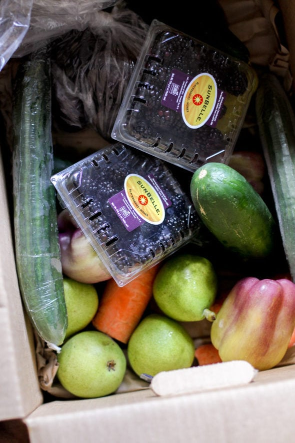 A box of produce from Hungry Harvest.