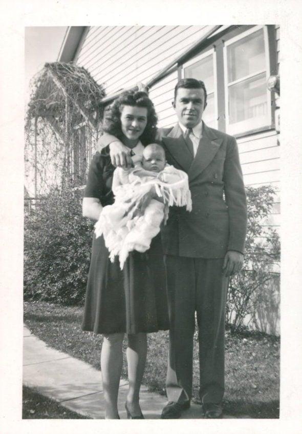 Kristen's grandma and grandpa in 1945.