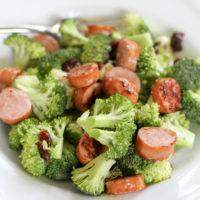 broccoli and sausage salad.